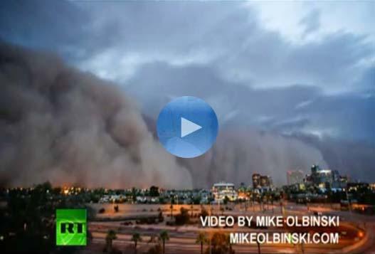 Огромная Пыльная Буря в Финиксе [Штат Аризона, США]
