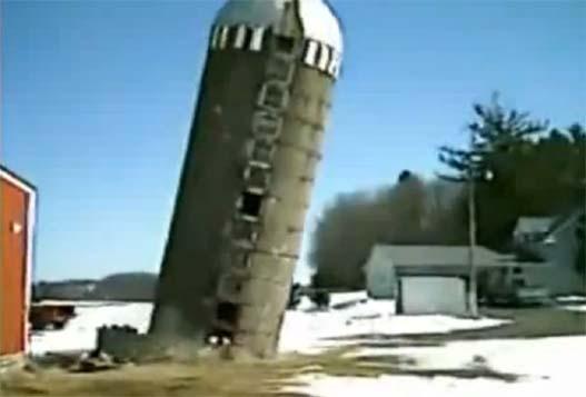 Прикольное Падение Силосной Башни