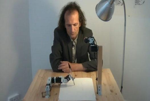 Робот Рисует Человека